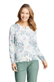 Women's Supima Cotton Cardigan Sweater - Print