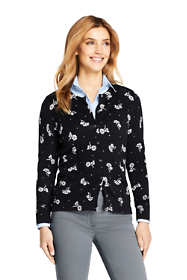Women's Petite Supima Cotton Cardigan Sweater - Print
