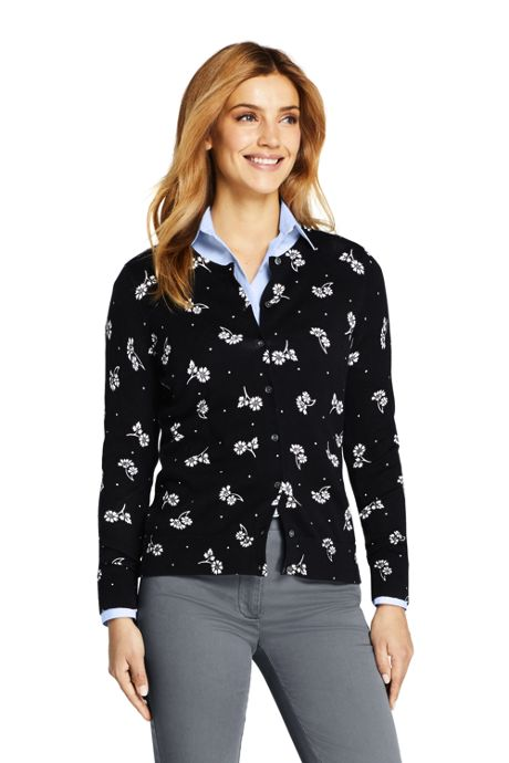 Women's Supima Cotton Cardigan Print Sweater