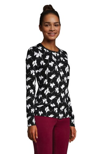 Women's Tall Supima Cotton Cardigan Sweater - Print