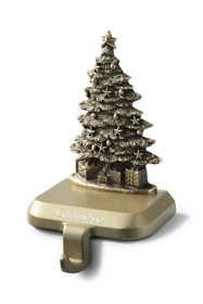 Antique Brass Finish Stocking Holder