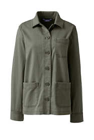 Women's Petite Chino Herringbone Shirt Jacket