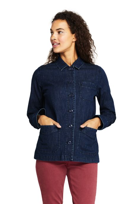 Women's Petite Denim Shirt Jacket