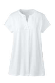 Women's Short Sleeve Notch Neck Tunic Top
