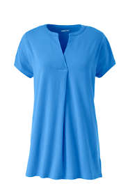 Women's Plus Size Short Sleeve Notch Neck Tunic Top