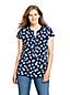 Women's Petite Printed Jersey Notch Neck Tunic Top
