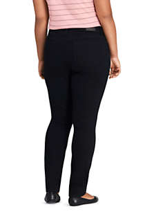 Women's Plus Size Mid Rise Skinny Black Jeans, Back