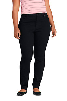 Women's Mid Rise Stretch Skinny Black Jeans