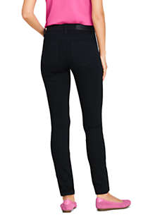 Women's Mid Rise Skinny Jeans - Black, Back