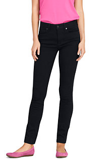 Women's Mid Rise Stretch Skinny Black Jeans