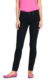 Women's Petite Mid Rise Skinny Jeans - Black