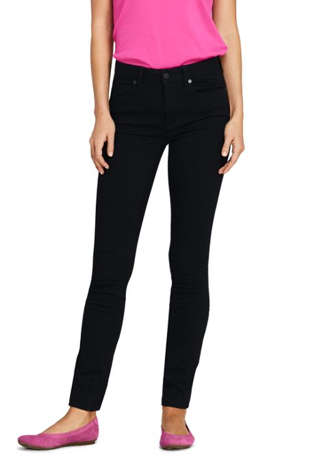 Women's Tall Mid Rise Skinny Jeans - Black