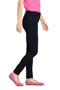 Women's Mid Rise Skinny Jeans - Black, alternative image
