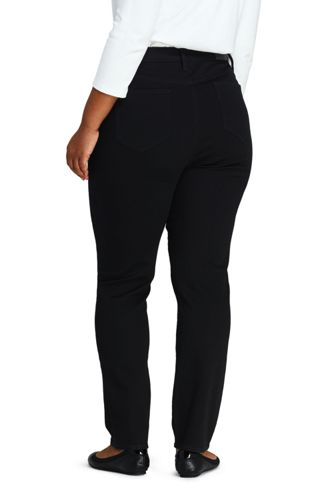 Women's Plus Size High Rise Straight Leg Ankle Jeans