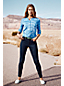 Women's Petite Mid Rise Indigo Stretch Skinny Jeans