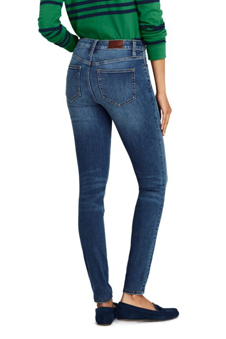 Women's Tall Mid Rise Skinny Jeans - Blue