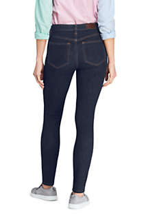 Women's Tall Mid Rise Skinny Jeans - Blue , Back