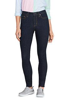 Women's Mid Rise Indigo Stretch Skinny Jeans
