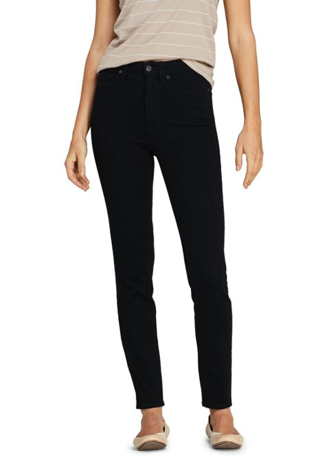 Women's Petite High Rise Slim Straight Leg Ankle Jeans