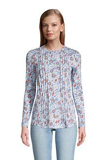 Women's Cotton-modal Pintucked Tunic