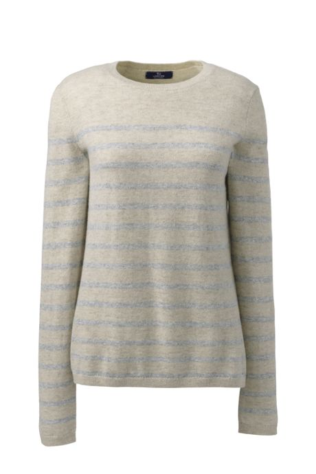 Women's Plus Size Cashmere Stripe Sweater