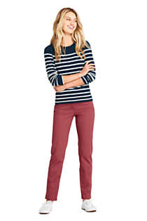 Women's Petite Cashmere Crewneck Sweater - Stripe, alternative image