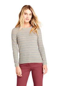 Women's Cashmere Crewneck Sweater - Stripe