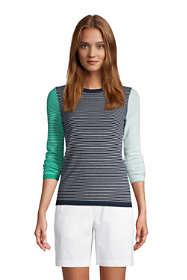 Women's Cashmere Crewneck Sweater - Stripe