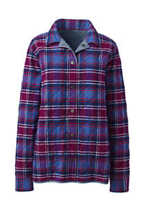 Women's Reversible Flannel Shirt Jacket, Front