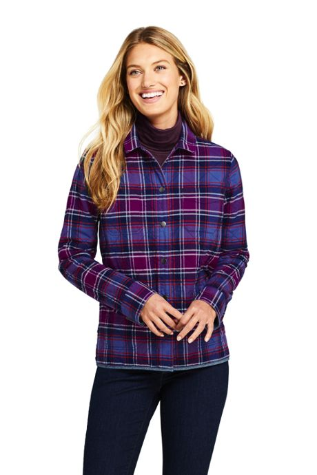 Women's Reversible Flannel Shirt Jacket