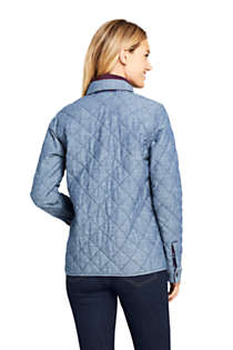 Women's Reversible Flannel Shirt Jacket, Back