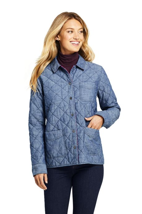 Women's Petite Reversible Flannel Shirt Jacket