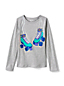 Girls' Long Sleeve Glitter Graphic T-shirt