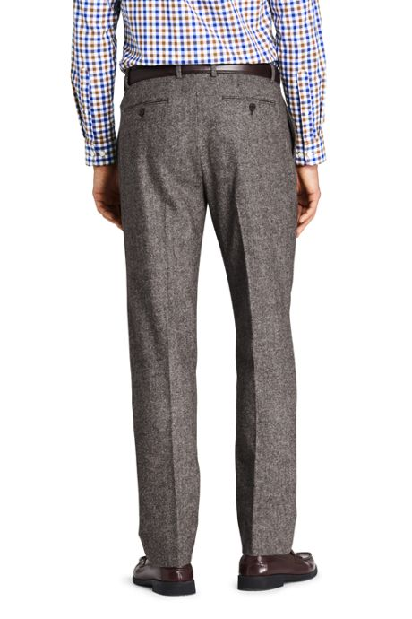 Men's Tailored Fit Wool Birdseye Dress Pants