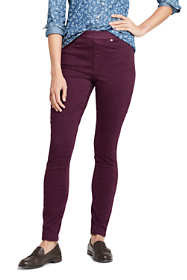 Women's Petite Elastic Waist High Rise Pull On Skinny Legging Colorful Jeans