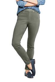 Women's Elastic Waist High Rise Pull On Skinny Legging Jeans - Color