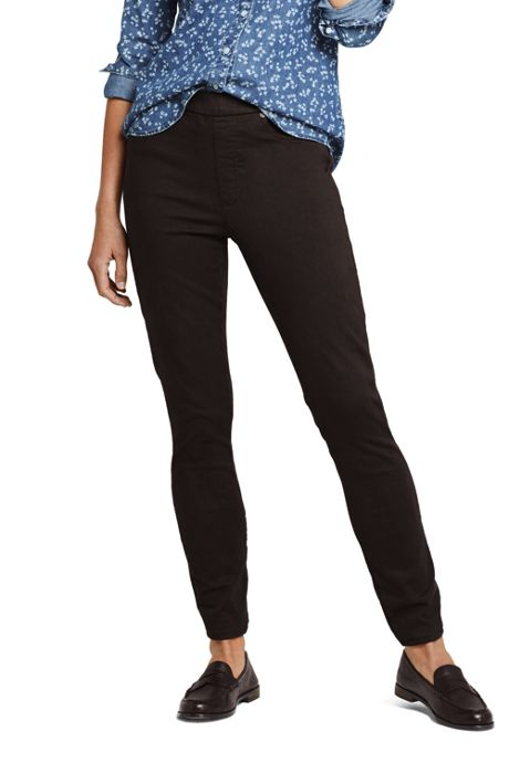 Women's Tall Elastic Waist High Rise Pull On Skinny Legging Jeans - Color