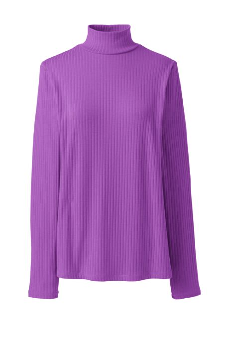 Women's Tall Ribbed Long Sleeve Turtleneck