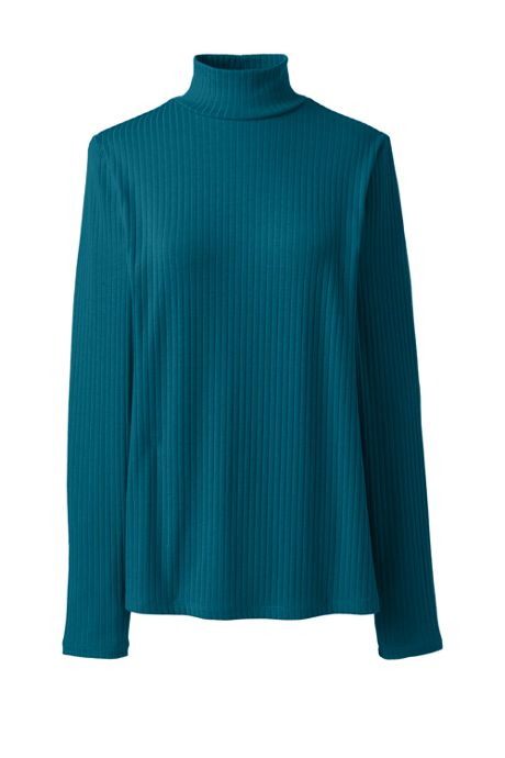 Women's Petite Ribbed Long Sleeve Turtleneck