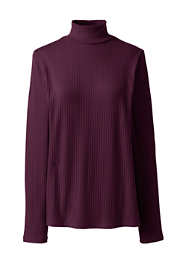 Women's Plus Size Ribbed Long Sleeve Turtleneck