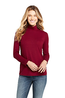 Women's Long Sleeve Jersey Rib Polo Neck