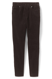 Women's High Waisted Pull-on Corduroy Legging Jeans