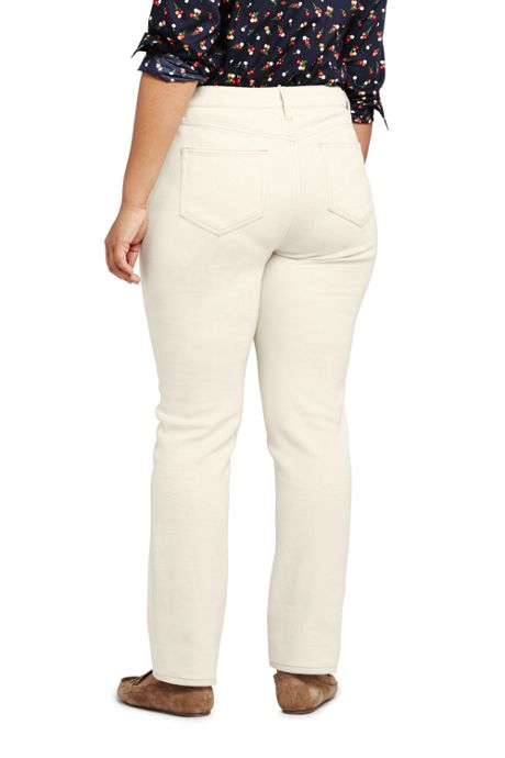 Women\'s Plus Size Mid Rise Straight Leg Jeans - Natural Off ...