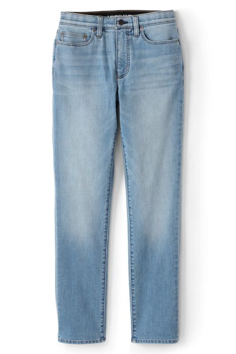 Women's Tall Slimming Compression High Rise Straight Leg Jeans - Blue