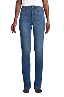 Women's Slimming Jeans, High Waisted Straight Leg, Indigo
