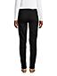Jean Droit Stretch Noir Taille Mi-Haute, Femme Stature Petite