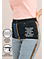 Schwarze Shaping Jeans, Straight Fit High Waist für Damen in Petite-Größe