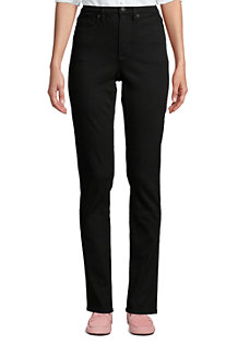 Schwarze Shaping Jeans, Straight Fit High Waist