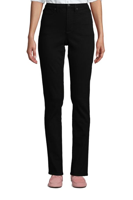 Women's Tall High Rise Straight Leg Shaping Black Jeans