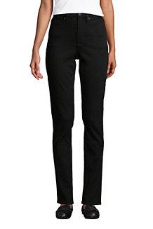 Women's Slimming Jeans, High Waisted Straight Leg, Black